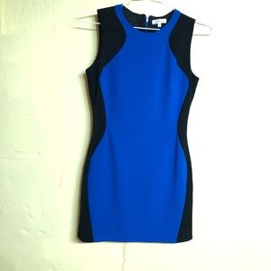 Blue and black justfab dress